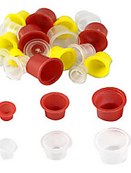 300 Pcs Mixed Tattoo Ink Cups (Small) Random Color