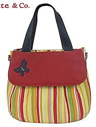 Kate & Co.® Women PVC / Cowhide Tote Orange / Red - TH-02111