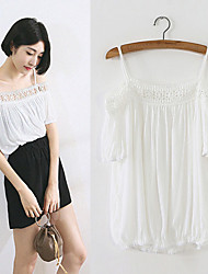 Women's Off-the-shoulder T-Shirts Sexy/Cute HNY