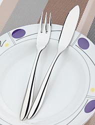 2pcs de poissons dongjin®elegance fixés couteau à poisson * 1 + fourchette à poisson * 1 18/10 importés en acier inoxydable