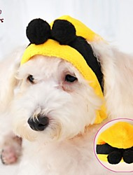 Cat / Dog Costume / Outfits / Bandanas & Hats Yellow Dog Clothes Winter Wedding / Cosplay / Halloween