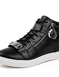 Men's High Help Canvas Fashion Boots Zipper Comfortable Flats