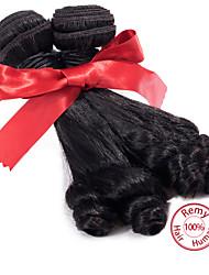 evet 1pc 7a peruanische reine Haar aunty funmi menschliches Haar Locken bouncy Frühjahr Romanze Wellung Haar Weben