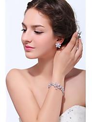Women's Silver Alloy Cubic Zirconia Tennis Bracelet