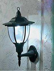 Lámpara de pared con alimentación 2 pcs solar con 4 leds