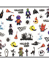 Halloween 3Pcs/Lot 3D Nail Designs Nail Stickers Decals Nail Art All Saints' Day