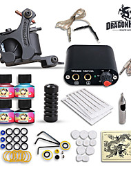 High Quality Complete Tattoo Kit Set 1 tattoo Machine Power Supply  4 Color Inks