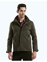 Men's Long Sleeve Jacket , Microfiber/Nylon Casual/Work/Formal Pure