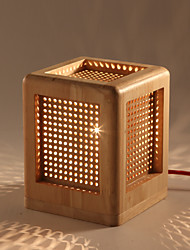 Modern Solid Wood Art Creative Individuality Bedroom Bedside Lights Study Shop Restaurant Wooden Desk Lamp