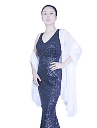 Wedding  Wraps / Shawls Scarves Sleeveless Polyester Black / White / Royal Blue Wedding / Party/Evening Appliques / Sequin