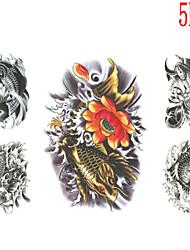 Tatuajes Adhesivos - Non Toxic/Modelo/Talla Grande/Parte Lumbar/Waterproof - Otros - Mujer/Hombre/Juventud - Multicolor - Papel - 5 -