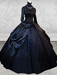 lieve dame mouwloze knielange zwarte en rode katoenen sweet lolita jurk