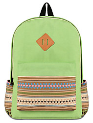Women Canvas/Acrylic Bucket Backpack/School Bag - Purple/Blue/Green