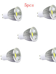 5pcs HRY® 5W GU10/E27/GU5.3 400LM Warm/Cool White Light LED COB Spot Lights(85-265V)