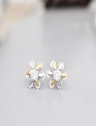 Korean tv Drama 925 Sterling Silver Earrings Rose Gold Snow 3a cz Stud Earrings Branded Earrings Mercurial Superfly