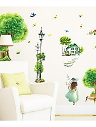Rural Village Green Beauty Decorative Wall Stickers