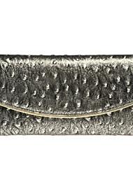 Women Cowhide Tri-fold Wallet