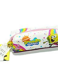 Spongebob Squarepants White Cartoon PVC Waterproof Zippers Cosmetic Brush Bag