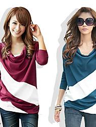 Informell Rund - Langarm - FRAUEN - T-Shirts ( Baumwolle )