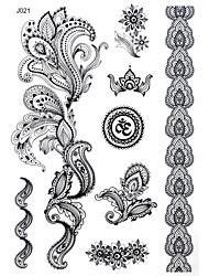 Outros - Bluezoo - Tatuagem Adesiva - Non Toxic/Estampado/Halloween/Tamanho Grande/Tribal/Lombar/Waterproof - para