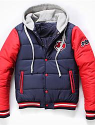 Men's Coats & Jackets , Cotton Long Sleeve Casual Winter / Spring / Fall DiBai