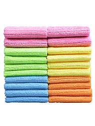 Sinland Household Multi-purpose Microfiber Cleaning Cloths Kitchen Cloth With Strips 12 Inchx12 Inch 20 Pack