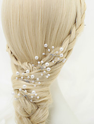 Women's Flower Girl's Alloy Imitation Pearl Headpiece-Wedding Special Occasion Hair Pin 4 Pieces