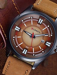 CURREN® Brand  Men'S Watch Men Date Clock Men Casual Quartz Watch Leather Wrist Sports Watches Wrist Watch Cool Watch Unique Watch Fashion Watch