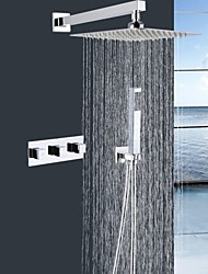 Shengbaier® Contemporary Shower Faucet with 10 inch Shower head + Hand Shower