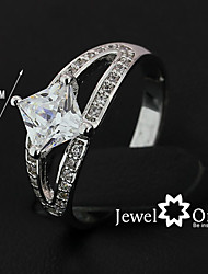 2015 High Quality Women Fashion Jewelry Classic Silver CZ stone Wedding Bends Ring