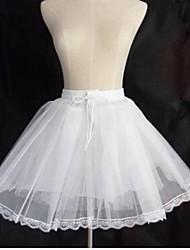 Déshabillés Robe de soirée longue Longueur courte 3 Filet de tulle Blanc