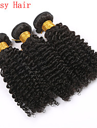 Kinky Curly Natural Black Color Virgin Indian Curly Hair Bundles Human Hair Extension