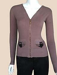2015 Autumn Winter High Quality Slim Fit  Women Sweater Knitted Women's Cardigan Women Double Zipper Cardigans