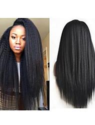 "Cheap Brazilian Full Lace Wig 10""-30""Glueless Brazilian Virgin Human Hair Kinky Straight Lace Front Wigs For Black Women"