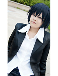 Cosplay Wigs Blue Exorcist Cosplay Ink Blue Short Anime/ Video Games Cosplay Wigs 35 CM Heat Resistant Fiber Male / Female