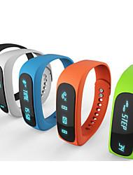 e02 bracelet Bluetooth sport montre intelligente temps de bracelet sain / caller id / alarme / podomètre moniteur de sommeil pour Android