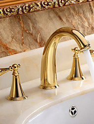 American Standard Widespread Two Handles Three Holes in Ti-PVD Bathroom Sink Faucet