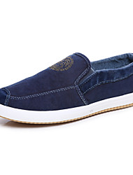 Men's Shoes Canvas Office & Career / Casual / Athletic Loafers / Slip-on Office & Career / Casual / Athletic Slip-on Blue / Gray
