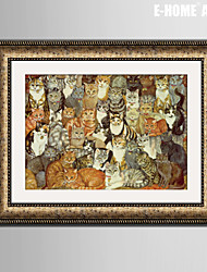 E-HOME® Framed Canvas Art, The Cat Framed Canvas Print