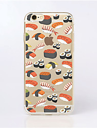 Para Funda iPhone 6 / Funda iPhone 6 Plus Transparente / Diseños Funda Cubierta Trasera Funda Azulejos Suave TPUiPhone 7 Plus / iPhone 7