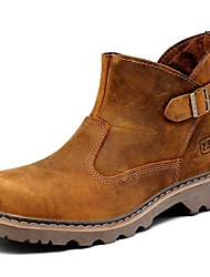 Sapatos Masculinos Botas Marrom Couro Ar-Livre / Escritório & Trabalho / Casual / Para Esporte / Festas & Noite