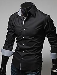 Men's Shirt Collar Casual Shirts , Cotton Blend Long Sleeve Casual Fashion Fall Aman