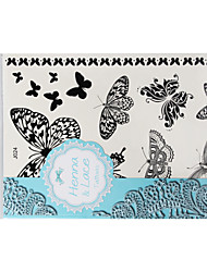 BlackLace Henna Indian Body Temporary Sexy Butterfly Tattoos Sticker For Women,Teens,Girls J024