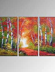 VISUAL STAR®Hand-Painted Forest Canvas Oil Painting Modern Wall Painting Ready to Hang