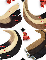 "Brazilian Human Hair Tape Extensions Ombre Cheap Tape Hair Extensions 12""-26"" 100g Ombre Hair Extensions Tape In 002"