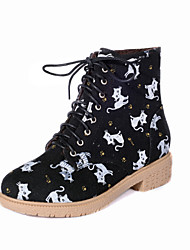 Women's Shoes  Low Heel Combat Boots/Round Toe/Closed Toe Boots Outdoor