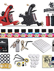 beginner tatoeage starterkits 2 machines 10 setimmortal tatoeage-inkt tattoo kit professional