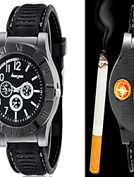 Huayue Watch Design Creative Usb Electronic Cigarette Lighter (Black) Wrist Watch Cool Watch Unique Watch