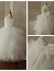 Princess Ankle-length Flower Girl Dress - Lace/Tulle Sleeveless
