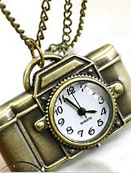 Man  And Woman Quartz Camera Pocket Watch